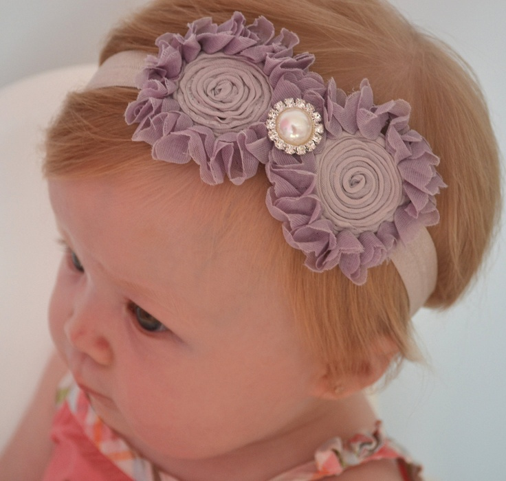 Vintage Style Baby Headband, Newborn Headband, bow headband, Baby Girl Photo Prop.. $8.99, via Etsy.