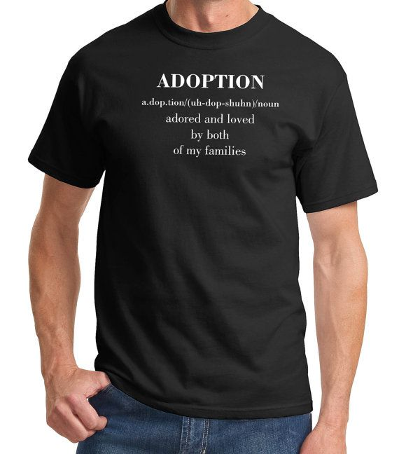 Father's Day Meaning of Adoption TShirt Tee by PersonalTouchShirts, $18.99