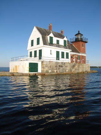 Rockland Breakwater Light, Rockland, Maine. I lived right across the street and used to walk out to this light house all the time!  Beautiful town!