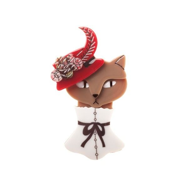 Erstwilder Cat in a Hat Brooch