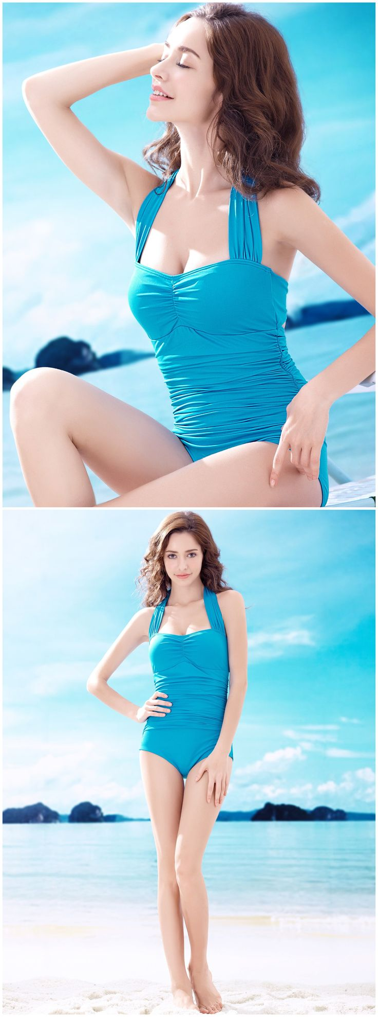 Summer Elegant Style Charming Unique Pleated Sexy Padded Wireless Push Up Halter Neck One Piece Slim Conjoined Swimsuits http://www.amazon.co.uk/s/ref=sr_il_ti_merchant-items?me=AWH6KY5XWWO07&rh=i%3Amerchant-items&ie=UTF8&qid=1433385992&lo=merchant-items