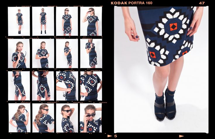 LOOK_08 DIAMETRIC FLOWER PRINT DRESS