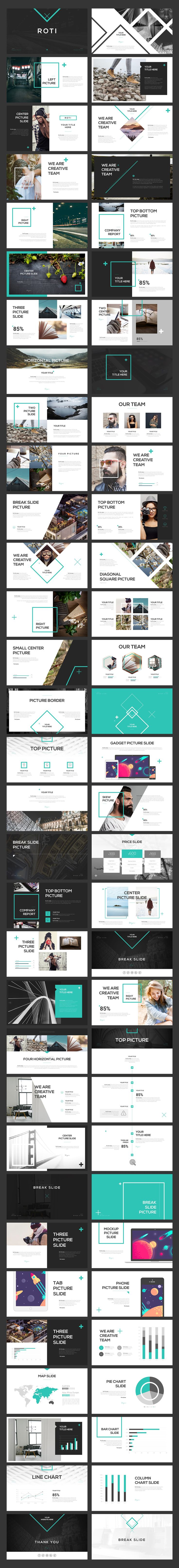 ROTI Keynote Template by Angkalimabelas on @creativemarket                                                                                                                                                                                 More