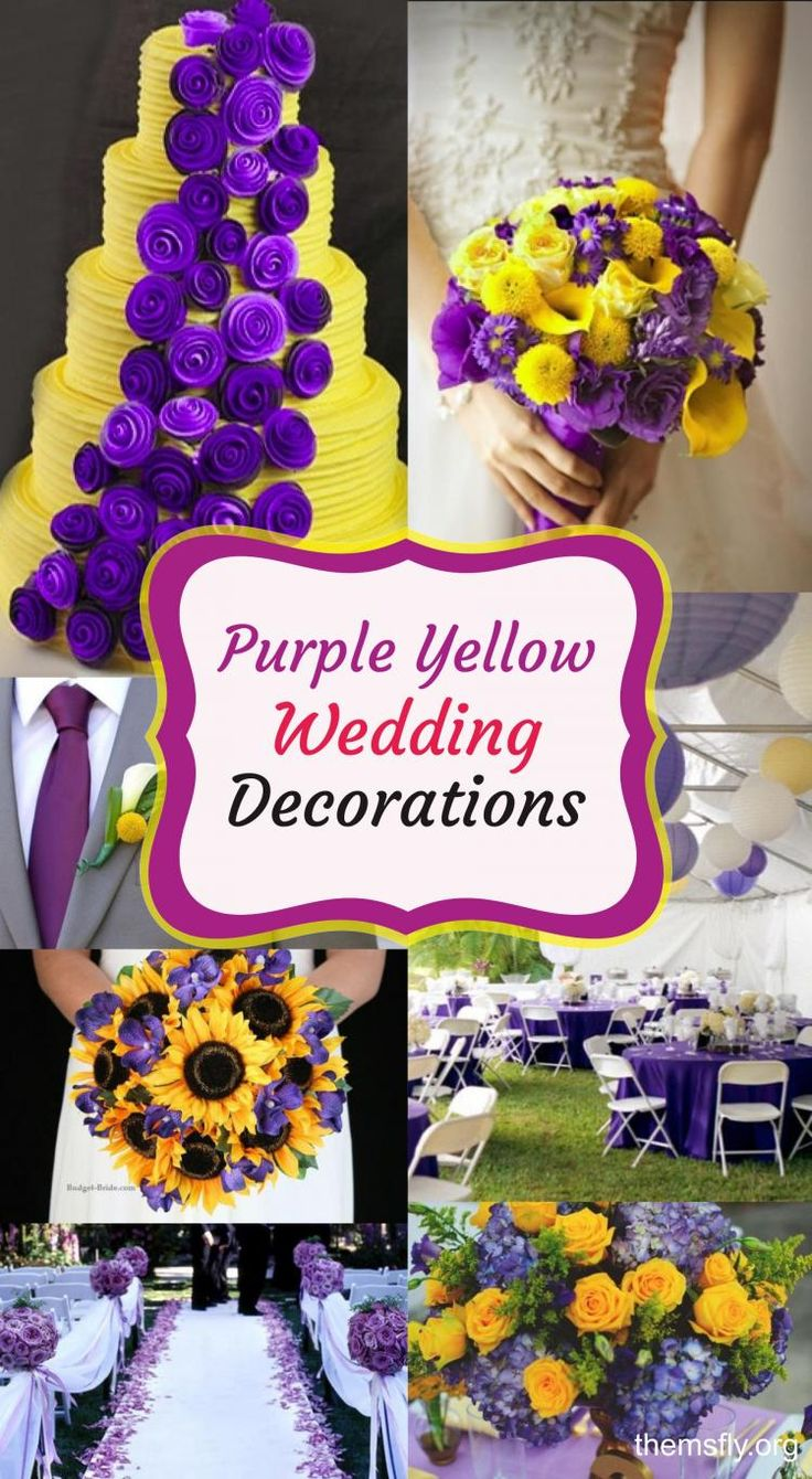 How To Make A Beautiful Combination Purple and Yellow for Wedding Decorations?