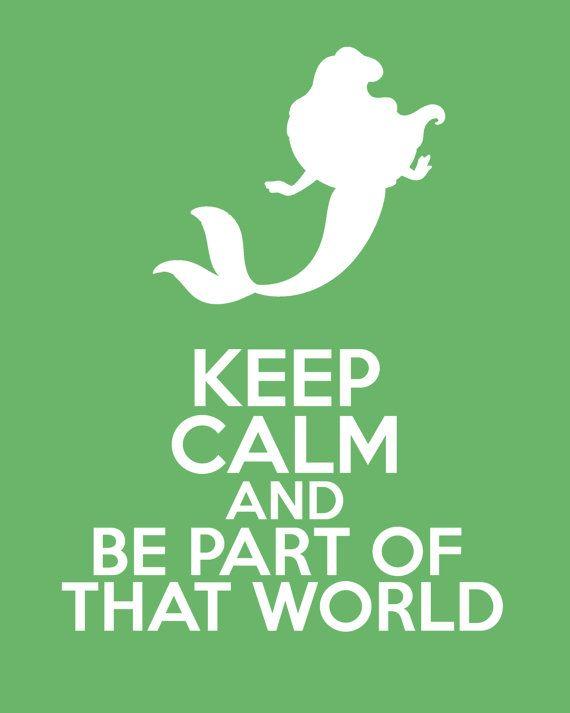 Disney The Little Mermaid Keep Calm 8x10 Poster Prints