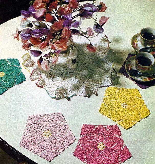 Patrón #1023: Tapetes Salvamanteles a Crochet | CTejidas [Crochet y Dos Agujas]