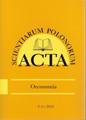 Acta Scientiarum Polonorum - seria Oeconomia  http://acta_oeconomia.sggw.pl/opublikowane-numery/