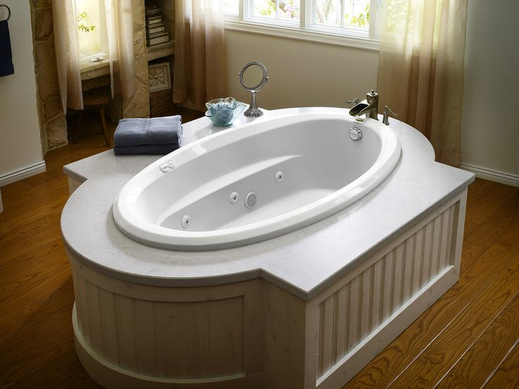 Faucet com   J3D7242WLR1XXW in White by Jacuzzi. 59 best bathroom images on Pinterest   Jacuzzi tub  Tub surround