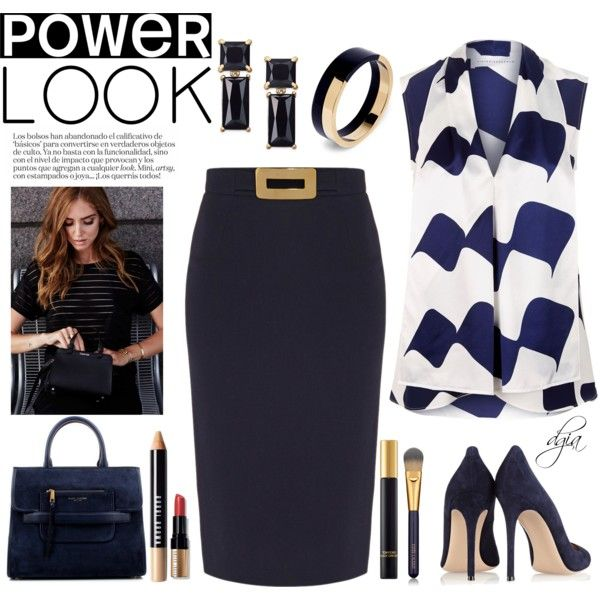 Power Look by dgia on Polyvore featuring Victoria Beckham, Goat, Gianvito Rossi, Kate Spade, Marni, Estée Lauder, Bobbi Brown Cosmetics, Tom Ford, Marc Jacobs and Identity
