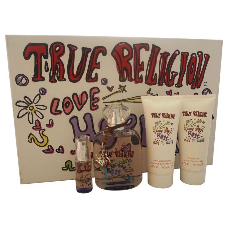 True Religion Love Hope Denim by True Religion for Women - 4 Pc Gift Set
