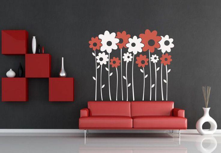 (065n) Nálepky na stenu - Margaréty   ARTSABLONY.SK