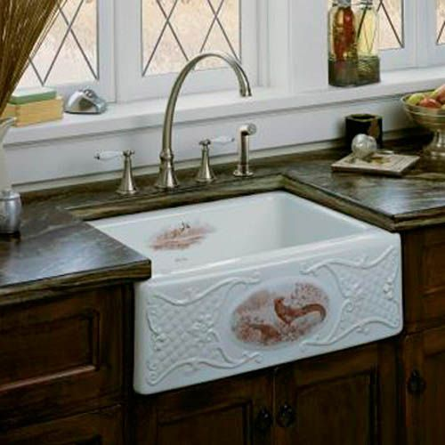 Kitchen:Vintage Apron Country Kitchen Sink Craigslist With Backsplash Kohler Irwell Retro Sinks Base 1920's 1940 Style Ideas Cast Iron Drain...
