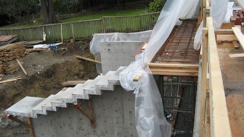 DETAIL – cantilevered stair «  home building in Vancouver