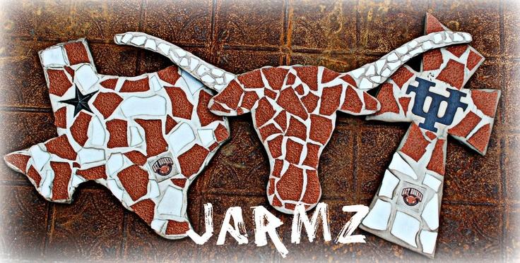 "Texas Longhorn By: Jarmz Decor Mosaics ""Facebook"""