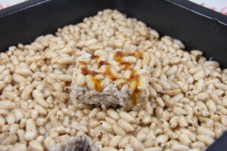 Healthy Vanilla Rice Crispy Bars
