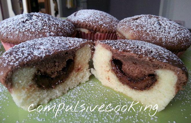 Muffin panna e cacao