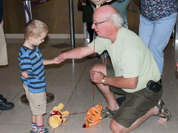 Touching Photo Captures Bond Between Adopted Boy And Grandpa With Same Disability