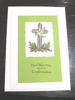 our daily bread confirmation stamps | Confirmation card using Our Daily Bread stamps