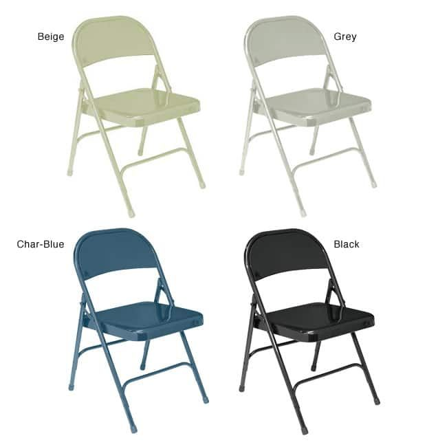 National Public Seating Nps Standard Steel Folding Chairs Pack Of 4