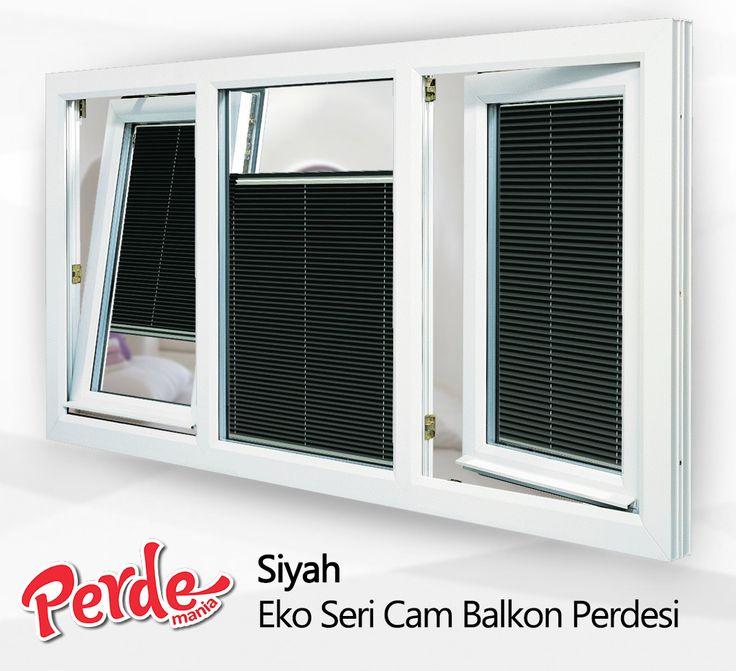 Siyah Eko Seri Plicell Markalı Cam Balkon ve PVC Perdesi  Eko seri olan cam balkon perdeleri düz renkleri içerir ve ışığı içeriye soft ve homojen dağıtan yapıdadır. Balkonlar için alternatifi olmayan bir perde türü olan plise perdeler katlanır cam balkonlar için özel üretilmiştir ve katlanmış görüntüsü ile balkon camlarınızda görsel bir şölen sunarken, alev almaz ve kir tutmaz kumaş özelliği ile büyük kolaylıklar sağlar.  #siyah #perde #balkon #pvc #cam #plicell