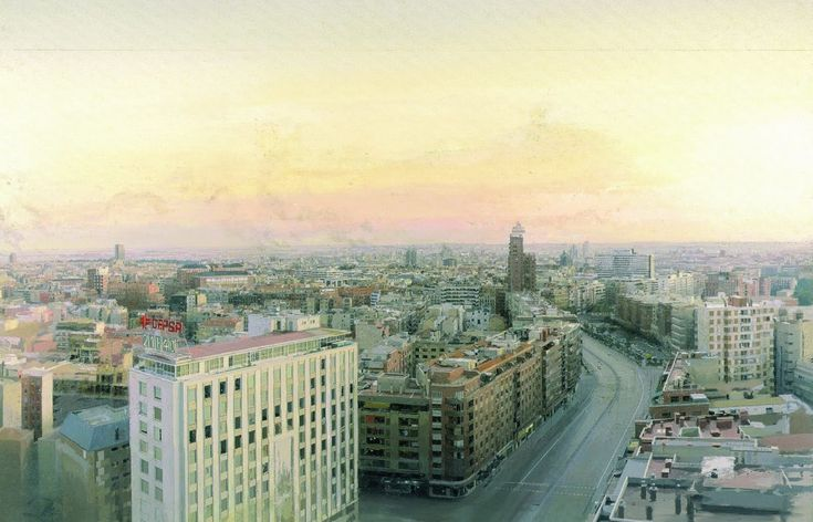 Figure 7. View of Madrid from Torres Blancas, 1976-82