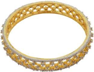 Waama Jewels Bronze Zircon Yellow Gold Bangle Set