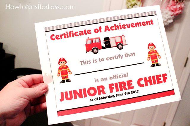 fireman birthday printables
