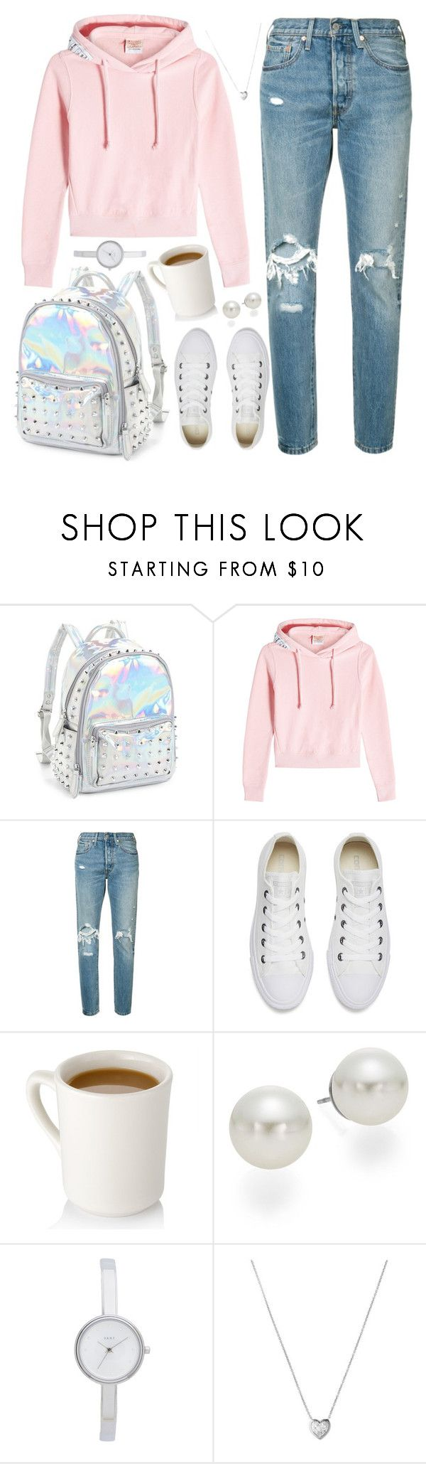 """Hail Rain or Sunshine"" by tegan-nottle ❤ liked on Polyvore featuring Bari Lynn, Vetements, Levi's, Converse, AK Anne Klein, DKNY, Links of London, trend, women and fashionset"
