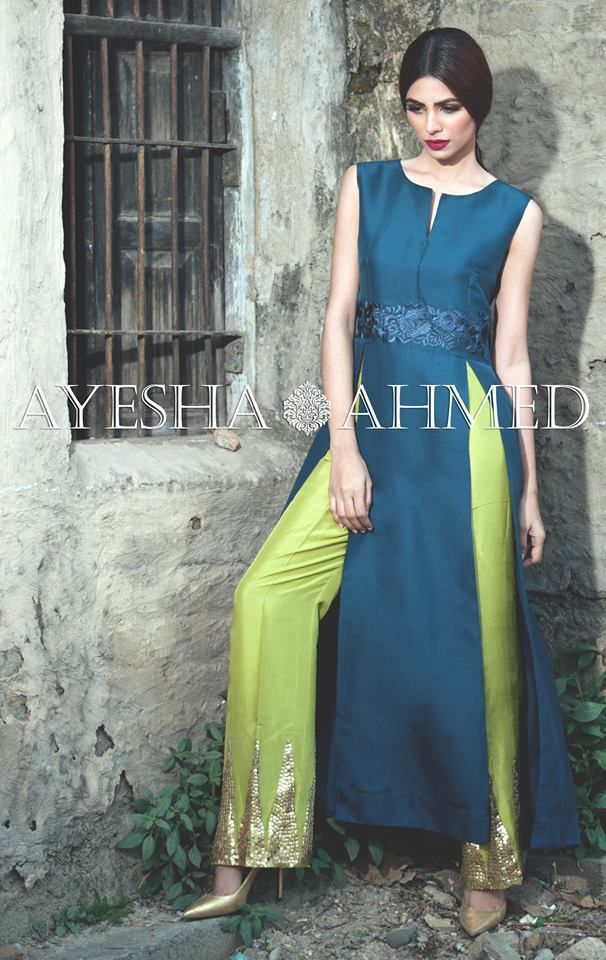 Ayesha Ahmed Formal Silk Dresses 2016 For Girls