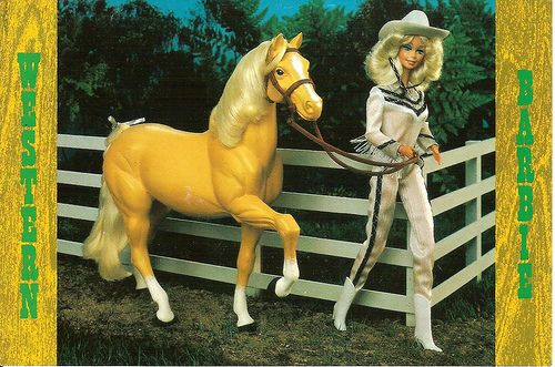 I loved my western Barbie w/ her feathered hair and her horse Dallas.