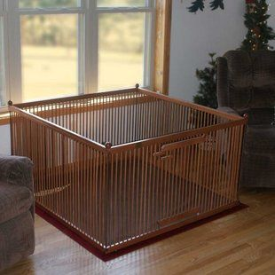 #MadeinUSA #Dog Play Pen - Great for toy and small breeds dogs so they can have freedom of movement while you're gone! 100% hardwood