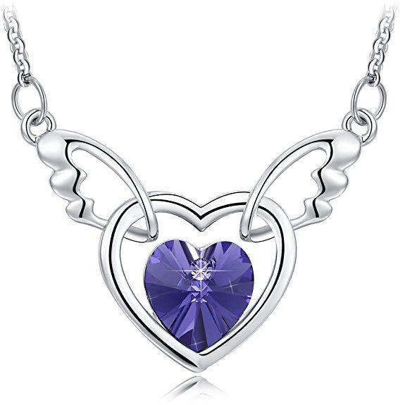 Damen-Schmuck Silber Halskette Ring-Anhänger Frau Geschenk zu Weihnachten