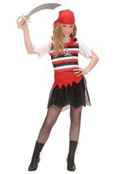 Zeerovers meisjes kostuum voor alle meiden die een gevaarlijke zeerover wil zijn! Zeerovers meisjes kostuum met rok, shirt en hoofddoekje. Piraten accessoires kunt u ook bij ons bestellen! Carnavalskleding 2015 #carnaval