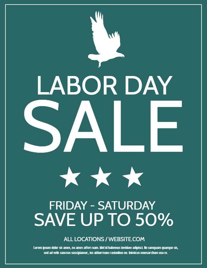 22 best Labor Day Posters images on Pinterest Online poster - labour day flyer template