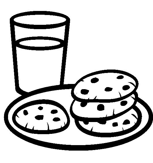 A Plate Of Cookies With A Glass Of Milk Coloring Pages Cookie Colouring Pages