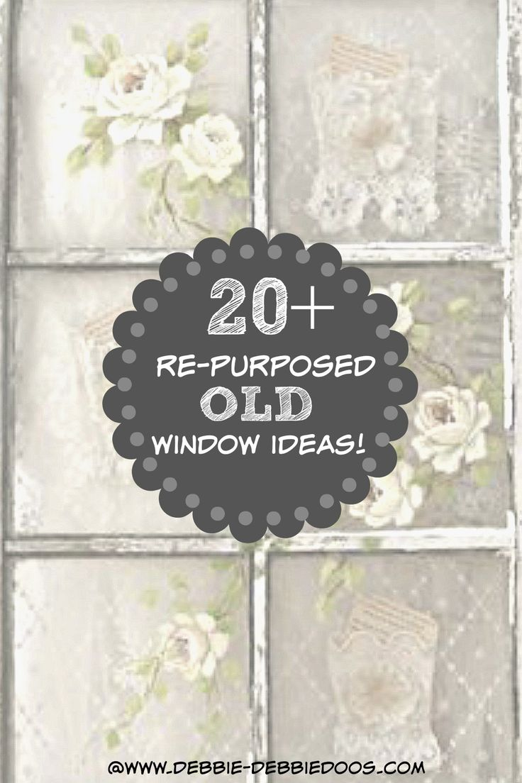 20+ Creative ways to decorate with old windows. You can find these old windows for dirt cheap. They are not only useful, they look pretty cool too!