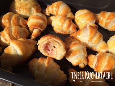 inser Kuchlbiachl: Schinken-Käse Blätterteig Gipfeler