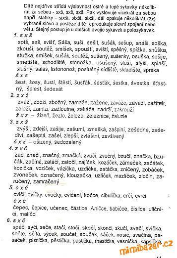 Logopedické cvičení- sykavky S,C,Z,Š,Č,Ž v jednom slově