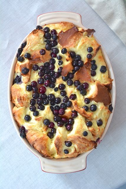 Blueberry breakfast bread pudding is a delicious and easy casserole that will easily please the whole family.