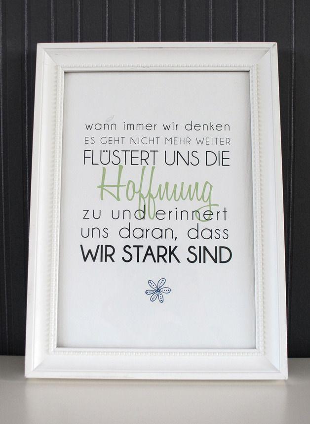 Originaldruck - Wir sind stark - Druck von Formart - ein Designerstück von Formart-Zeit-fuer-schoenes bei DaWanda