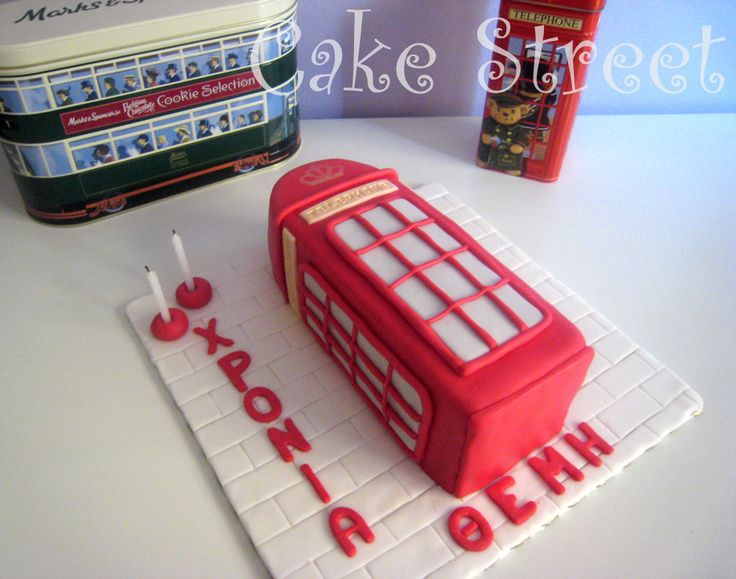 London Telephone Booth Cake!