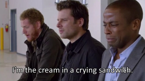 crying over a polar bear...gus can't blame this one on being a sympathetic crier