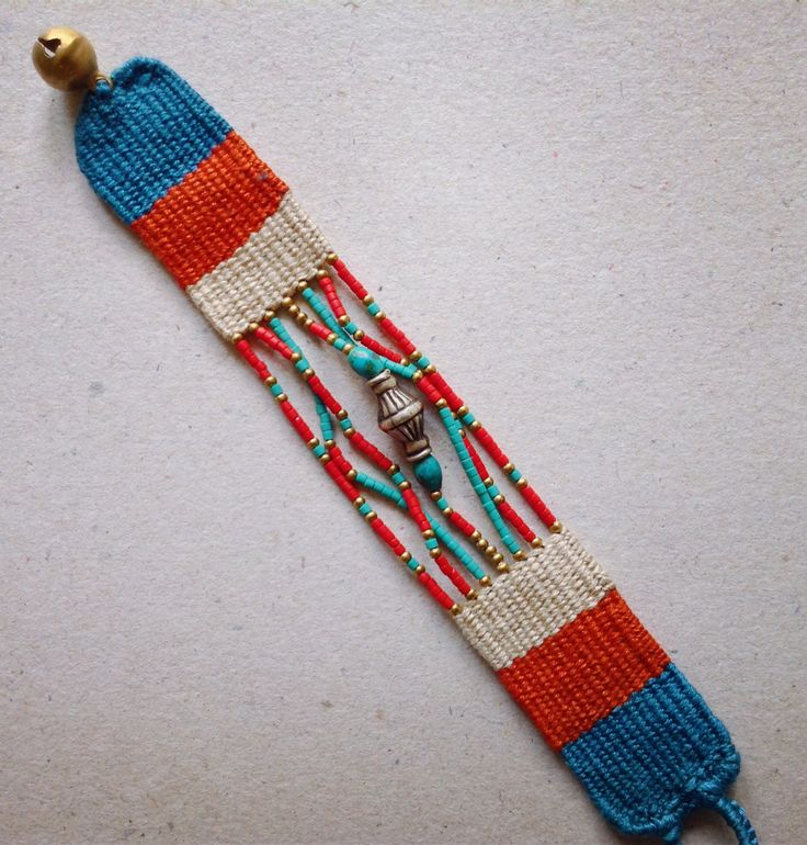 Needle Weaving Bracelet.