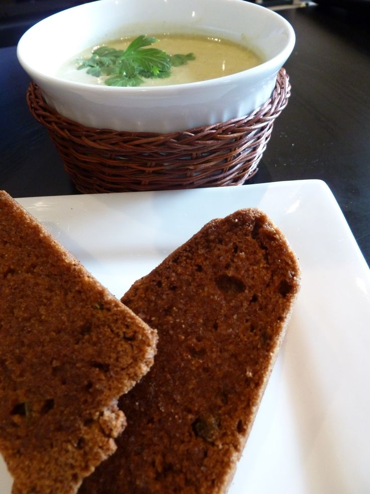 Cream of Broccoli Soup with Coconut Milk. Served with ...