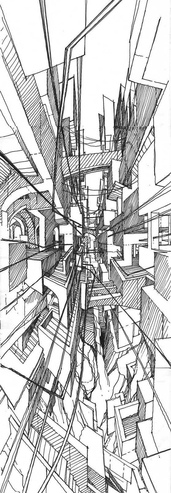 IMAGINARY JERUSALEM / Drawing by Stefan Davidovici, Architect - Milan, Italy | the architecture draftsman