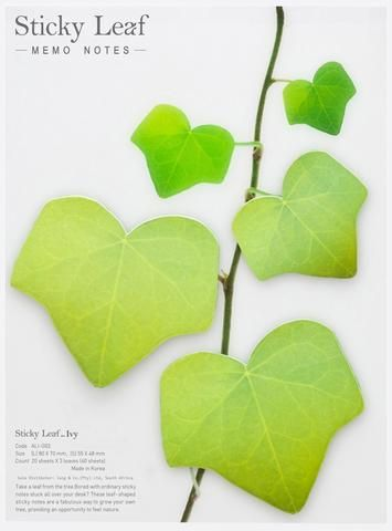 Sticky note Leaf Flower Ivy Funshop.co.za