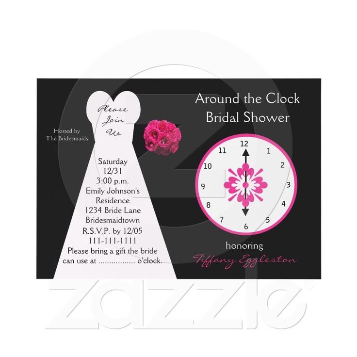 Around the Clock Bridal Shower Invitations 9