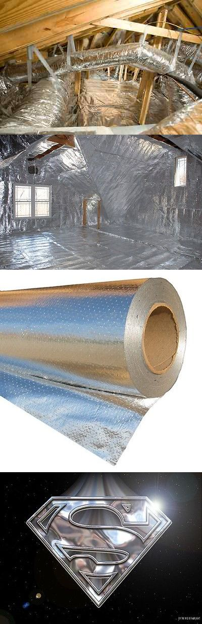 materials: 500 Sqft Reflective Radiant Barrier Attic Foil Insulation 17 Perf (Rafter Cut) BUY IT NOW ONLY: $59.88