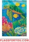Sea Turtle Coral Garden Flag