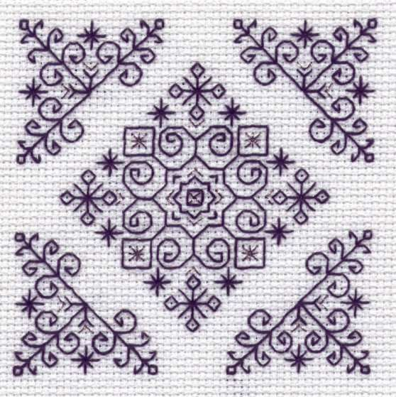Beautiful Blackwork - this one looks quite Christmassy...